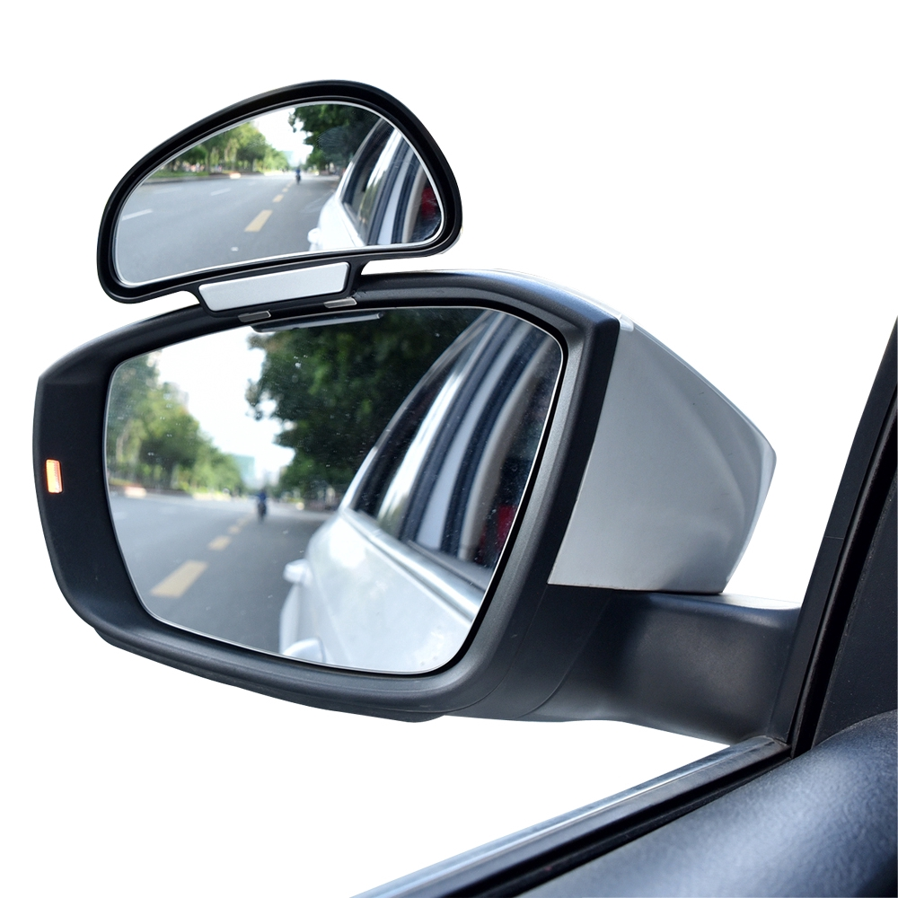 Car Mirror 360 Degree Adjustable Wide Angle Side Rear Mirrors Blind Spot Snap Way for Parking  Rear View Mirror
