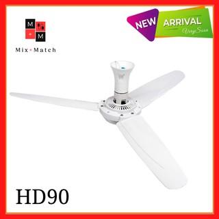Quạt trần mini cánh nhựa 90cm HD90