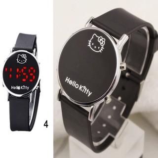 Đồng hồ điện tử đeo tay in hình Hello Kitty dễ thương cho bé
