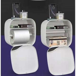 Hộp đựng giấy nhà vệ sinh dán tường đa năng