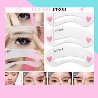 Set 3 khuôn kẻ lông mày phong cách Hàn Quốc 2160 bảo nhi shop thumbnail
