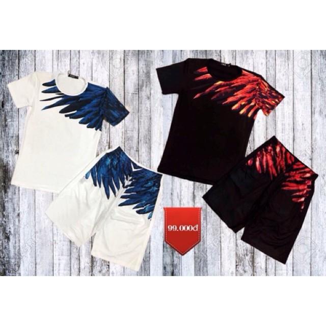 Bộ Hè Nam Cánh Chim 2 Màu - Set quần áo mặc nhà nam Bộ đông