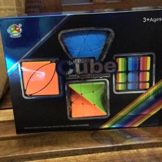 Rubik 4 hình cao cấp ( trọn bộ 4 kiểu chơi rubik )