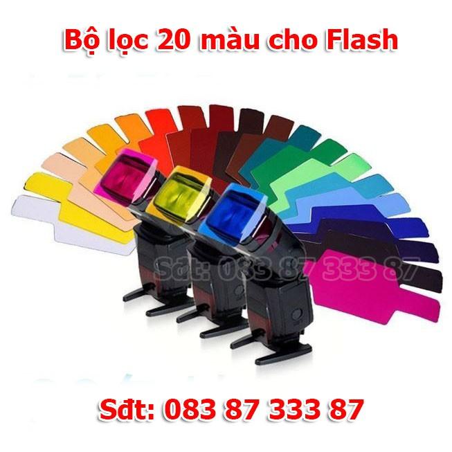 Bộ lọc 20 màu cho Flash máy ảnh