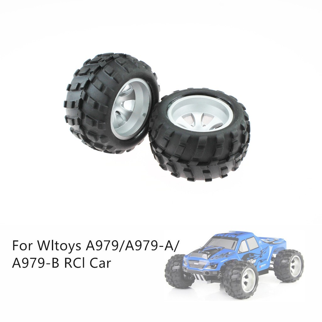 ♛READY STOCK♛2PCS Wheels Tire Spare Parts  For Wltoys A979/A979-A/A979-B Remote Control Car