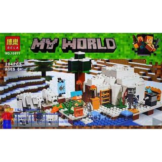 Bela 10811 (Lego Minecraft 21142 The Polar Igloo) Xếp hình Lều Tuyết Ở Vùng Cực