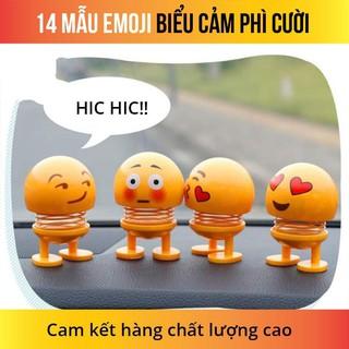 Hot Trend_Thú nhún Emoji lò xo ô tô hình biểu tượng cảm xúc_rẻ vô địch
