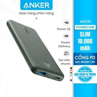 Pin sạc dự phòng ANKER PowerCore Slim 10000mAh PD - A1231 thumbnail