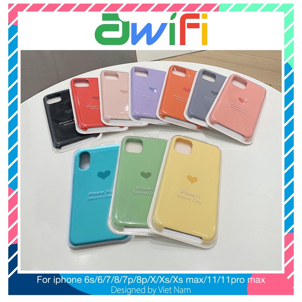 Ốp lưng iphone chống bẩn Tim 5/5s/6/6plus/6s/6splus/7/7plus/8/8plus/x/xr/xs/11/12/pro/max/plus/promax - Awifi Case GT-B