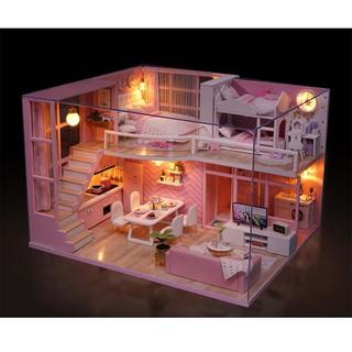 Bộ Mô Hình Nhà Gỗ :Dream Angels L 026 -Tặng Mica che bụi + Keo sữa