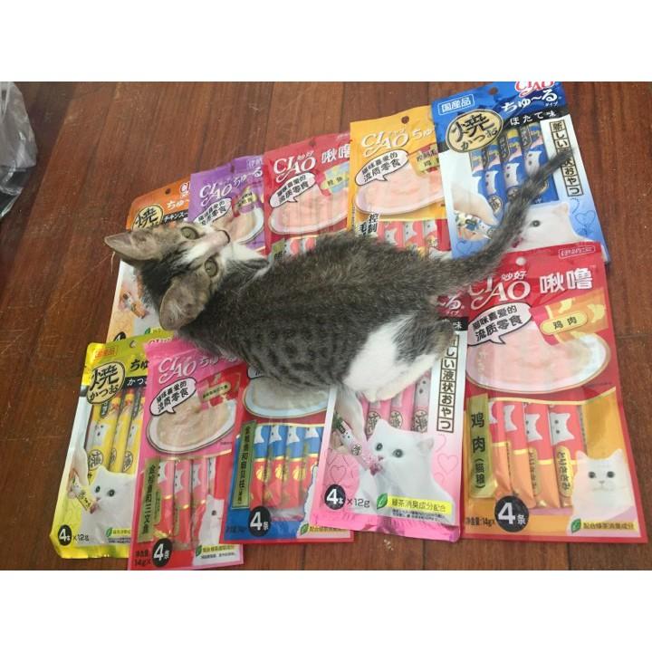 Combo 10 gói súp thưởng Ciao Churu cho mèo - 3160736 , 1265291434 , 322_1265291434 , 320000 , Combo-10-goi-sup-thuong-Ciao-Churu-cho-meo-322_1265291434 , shopee.vn , Combo 10 gói súp thưởng Ciao Churu cho mèo