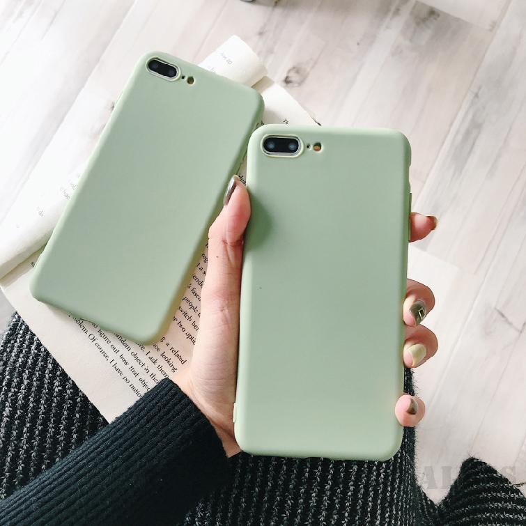 COD Iphone Simple Iphone8 สีชมพูสีฟ้ากรณีโทรศัพท์มือถือ  7plus Xs Max Xr Drop Protection Cover 869