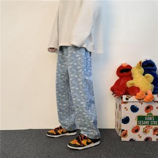 Hình ảnh Quần Jeans Suông Paileys unisex N7 Basic nam nữ ống rộng oversize phong cách Hàn Quốc ulzzang-3