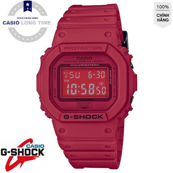 Đồng Hồ Casio Nam G Shock GLX-5600F-2DR Dây Nhựa Màu Đỏ - Mặt Vuông - Đồ Thị Thuỷ Tr
