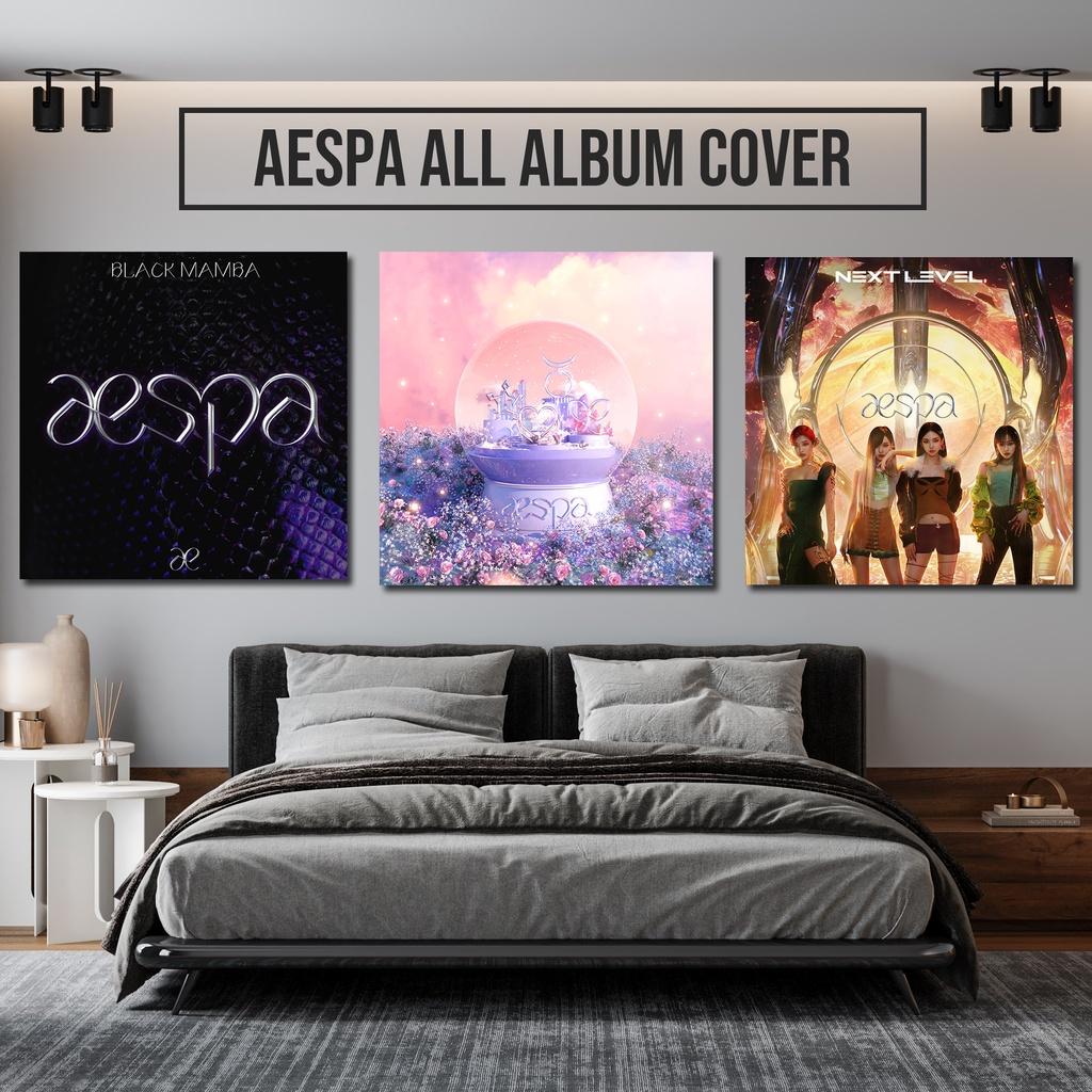 Album ảnh treo tường trang trí hình nhóm nhạc Aespa