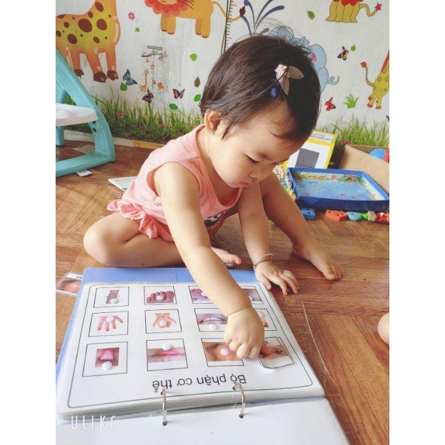 Bộ học liệu đầu tiên cho bé 23 trang ép lastic