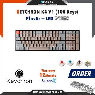 [ORDER] Bàn Phím Cơ Keychron K4 (V1 / V2) – Hàng chính hãng SiliconZ BH 12 Tháng