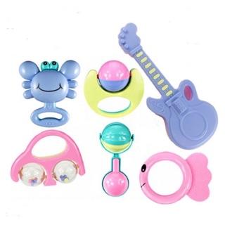 Bộ đồ chơi 6 chi tiết cầm nắm cho bé 6-12 tháng