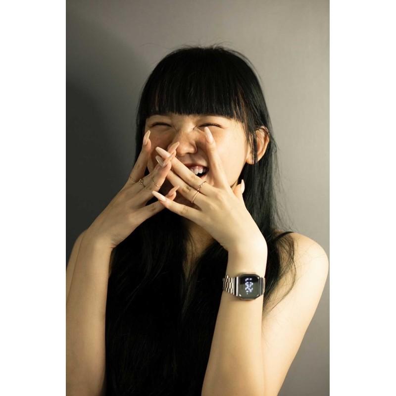[Mã SKAMPUSH7 giảm 10% đơn từ 150K] Đồng hồ nam nữ TOUCH WATCH tráng gương dây sắt kiểu dáng sang trọng