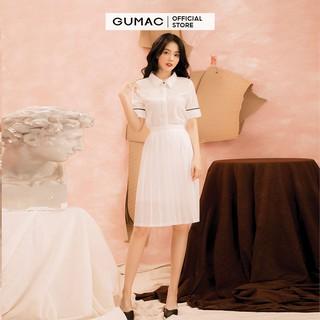 Chân váy nữ dập ly GUMAC CV22050