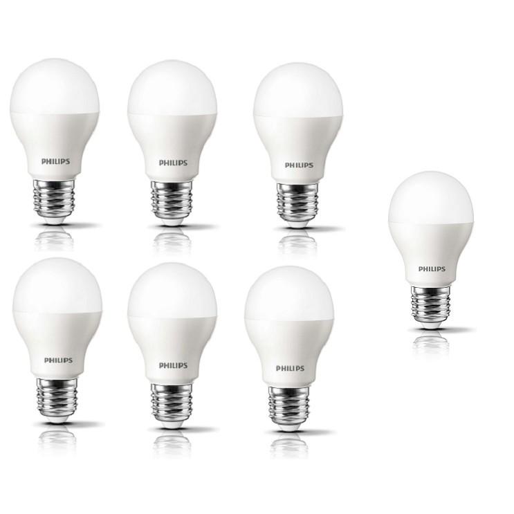 Bộ 7 bóng đèn Philips LED ESS LEDBulb 3W (Trắng, Vàng) tặng kèm 1 bóng led 3w Philips