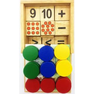 Đồ chơi gỗ – phát triển tư duy logic, số học: bộ học toán