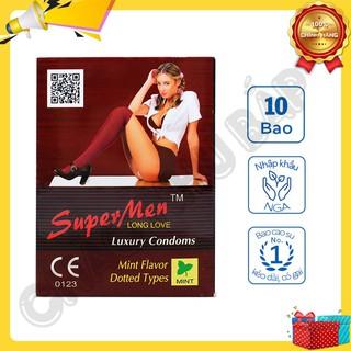 [Giá Rẻ] Bao Cao Su Gia Đình Super Men Gân Gai Hộp 10 Cái