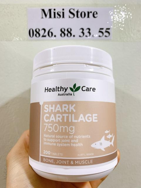 Viên uống sụn vi cá mập Úc, giảm đau cứng khớp SHARK CARTILAGE, Lọ 200 viên