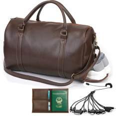Túi du lịch cỡ lớn N5 ( chống nước thêm ngăn để giày) TẶNG ví passport, cáp 10 đầu( cafe)