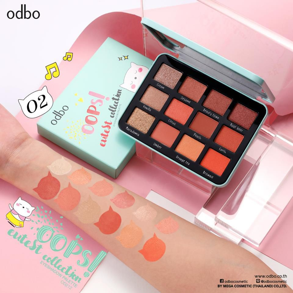 Phấn Mắt 12 Ô Odbo Oops Cutest Collection OD212