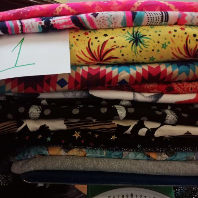 Set 5 kg vải cotton 2c, 4c, cotton lụa