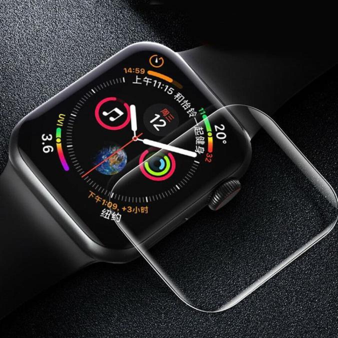 Kính cường lực 3D bảo vệ màn hình đồng hồ thông minh Apple Watch iwatch 44mm 42mm 38mm màu đen