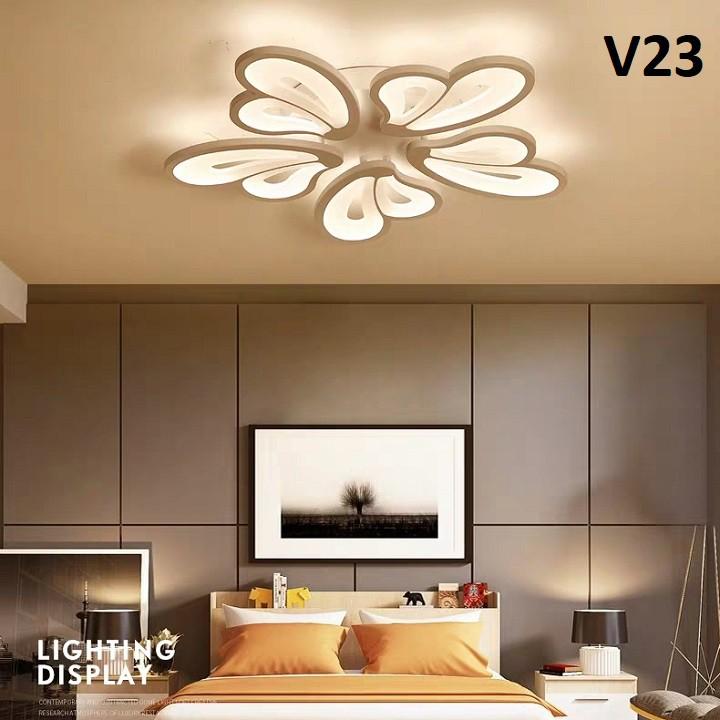 Đèn Ốp Trần Hiện Đại 3 Màu Mẫu V23– Có Điều Khiển – Tiết Kiệm Điện Năng