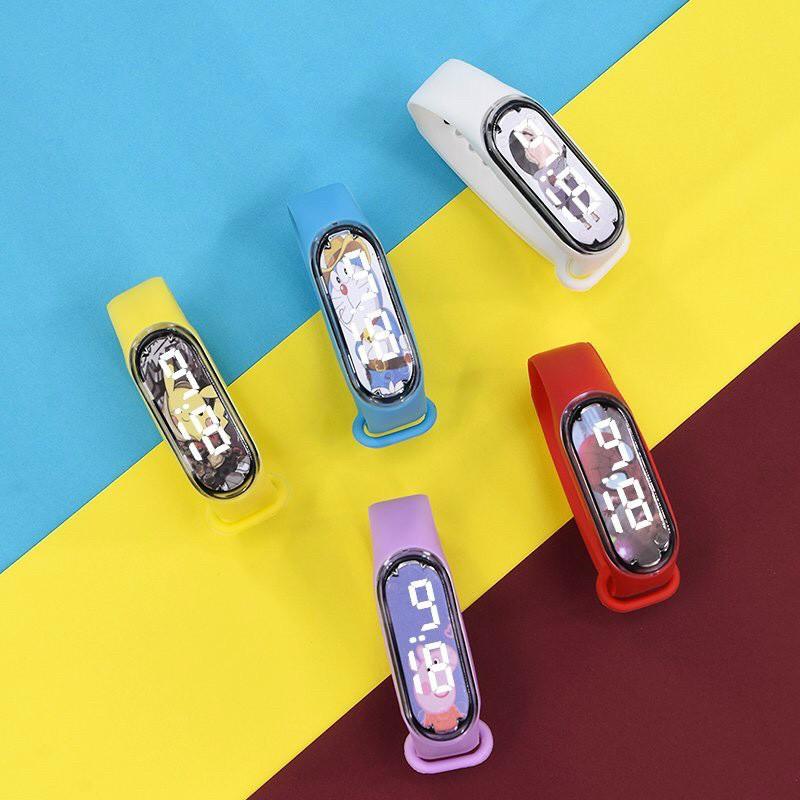 Đồng hồ điện tử Led Mtt6 trẻ em - hình nhân vật hoạt hình cực ngầu