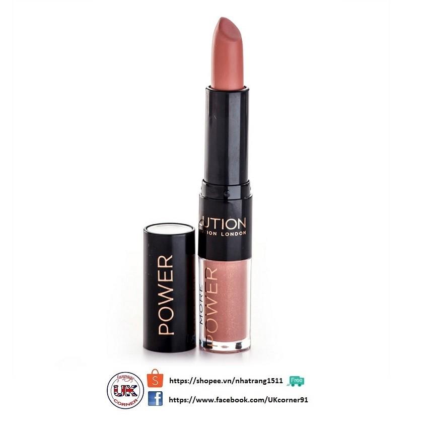 Son 2 đầu lì & dưỡng bóng Makeup Revolution Duo Lipstick Lipgloss Lip Power
