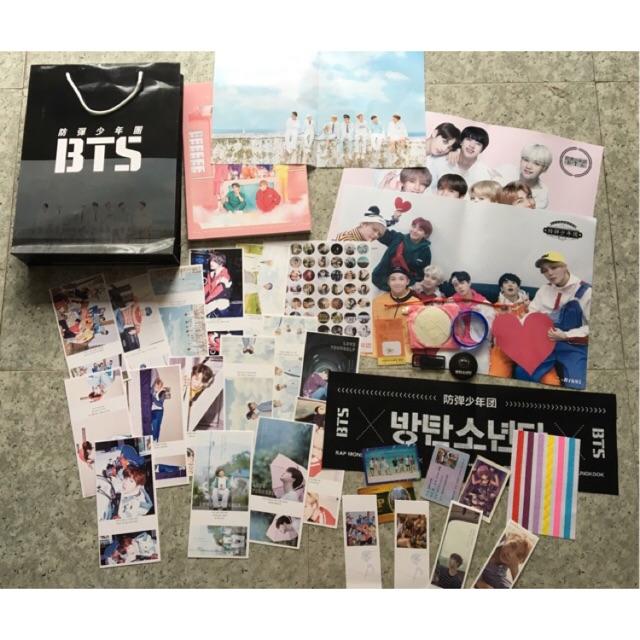 Combo + lomo hộp nhựa BTS, EXO, TFBOYS