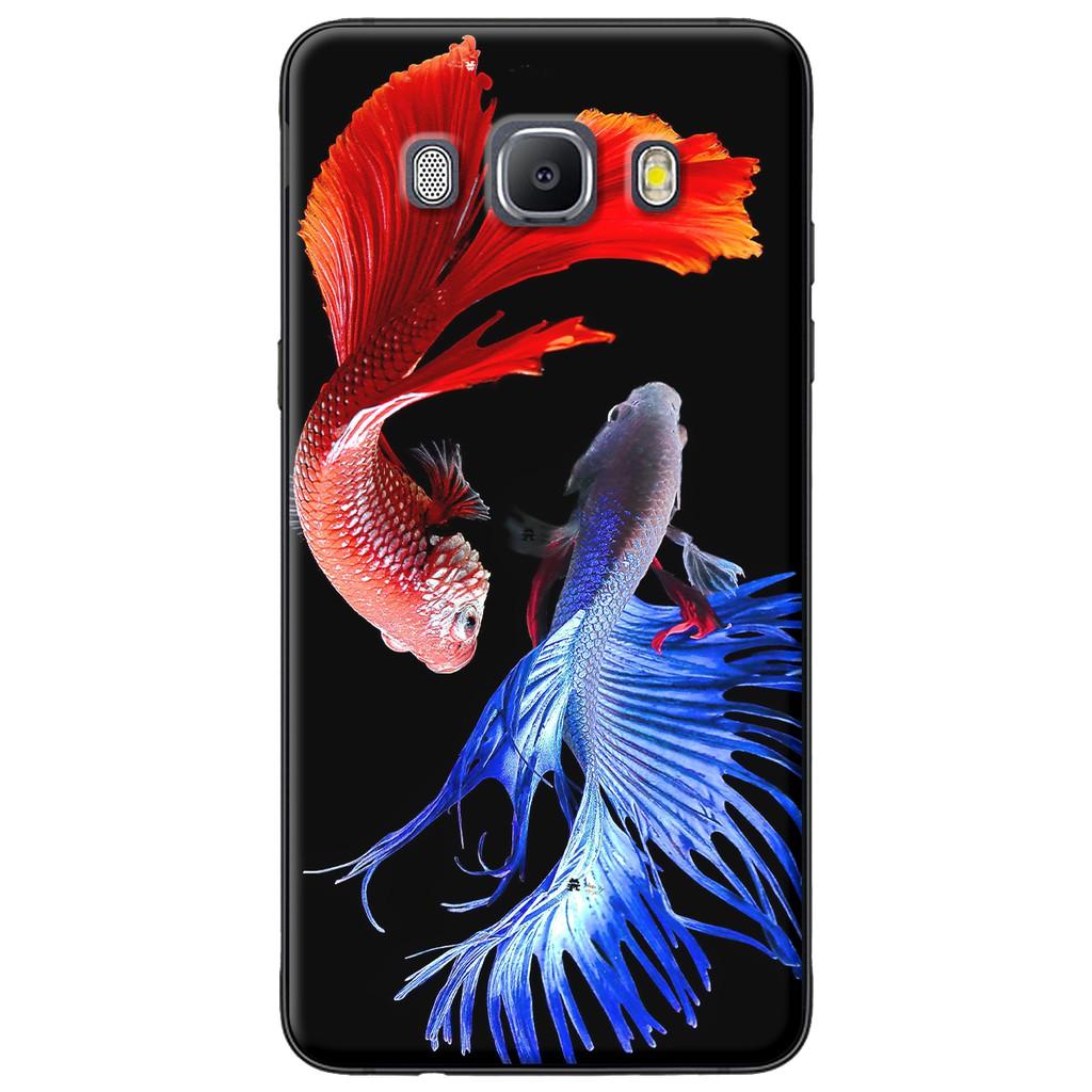 Ốp lưng Samsung J3,J5,J7 (2016), J2 Prime, G530 Cá betta xanh đỏ