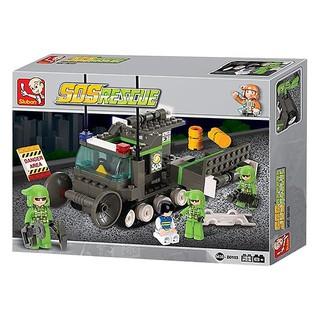 Đồ chơi lắp ghép xe cứu hộ SLUBAN M38-B0103