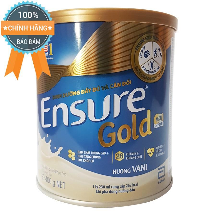Sữa bột Ensure Gold HMO Hương Vani 400g Date 2020
