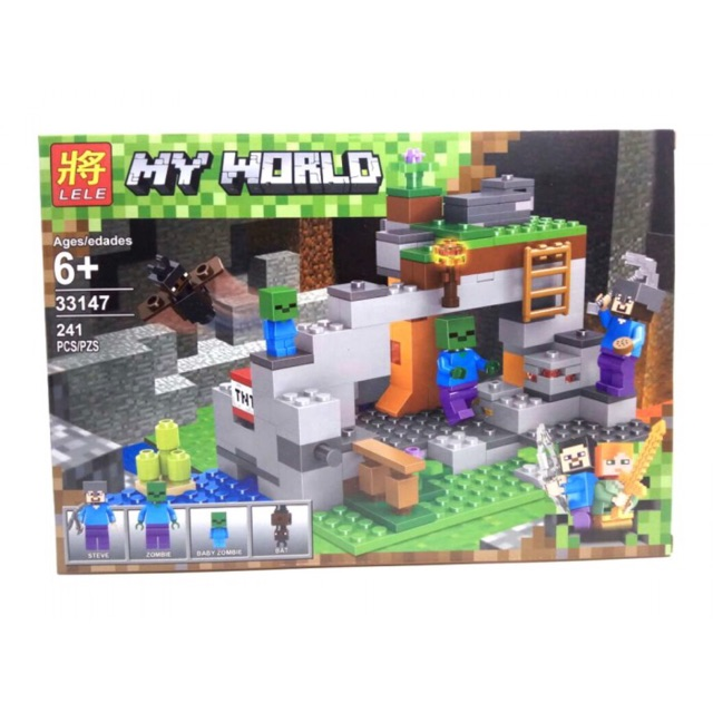 Lego my world 33147 + DG 938 - Hang động zombie