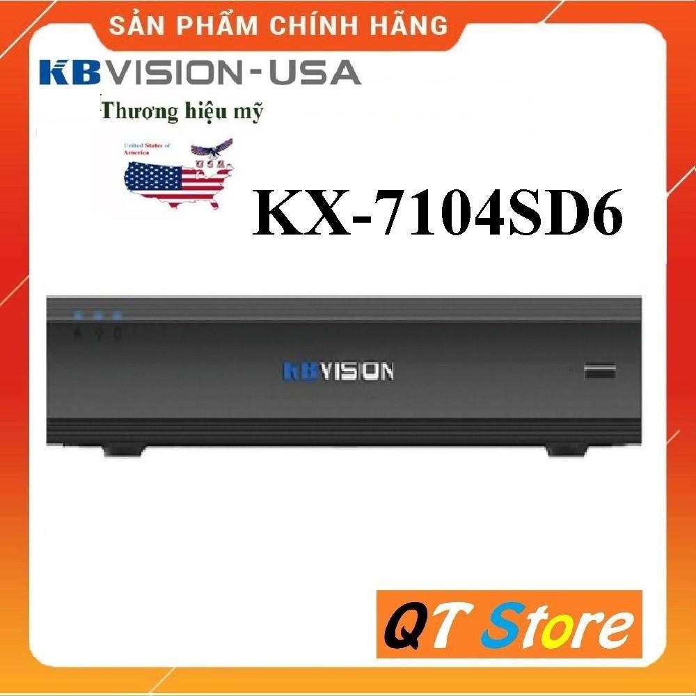 Đầu Ghi Hình 4 Kênh Camera Kbvision KX-7104SD6 Hỗ trợ 4 kênh HD + 1 Kênh IP - Hàng Chính Hãng