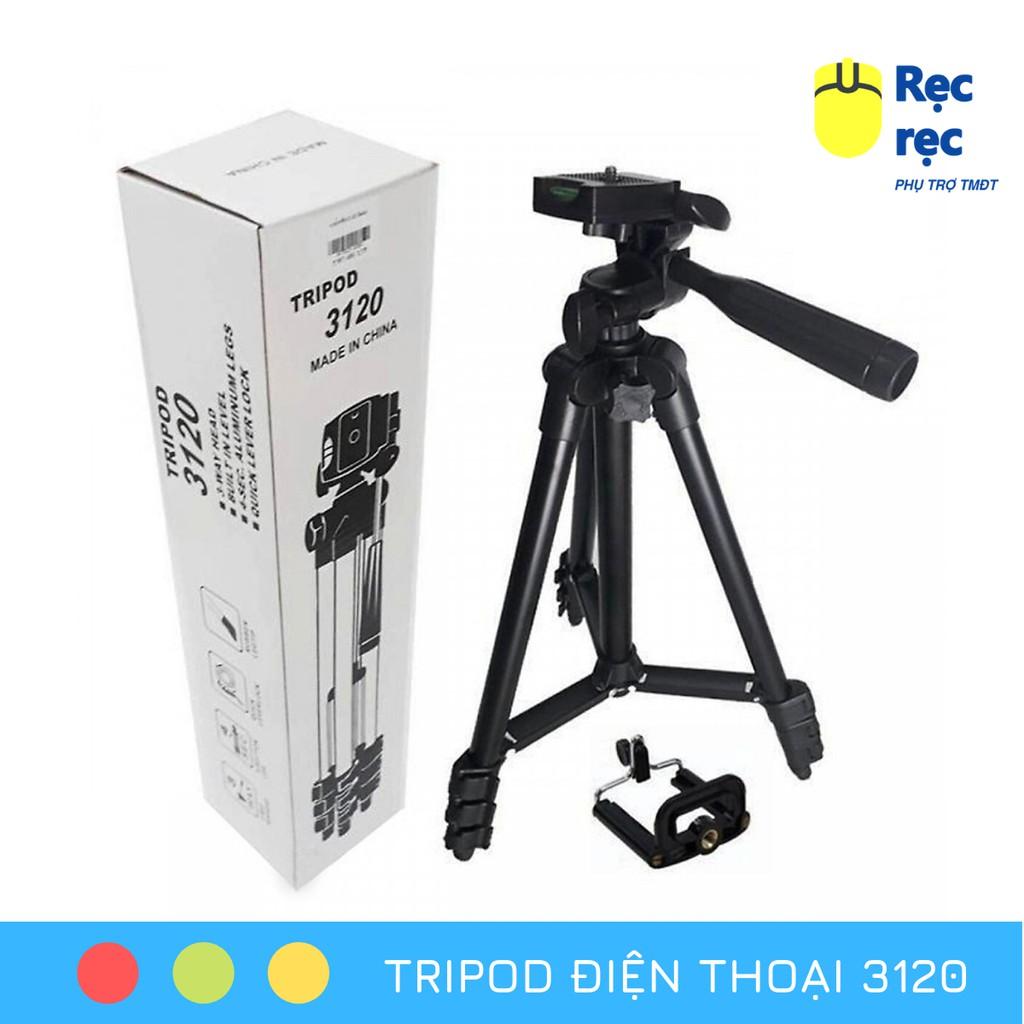Chân máy ảnh Tripod 3110 tặng Giá kẹp điện thoại và Túi đựng