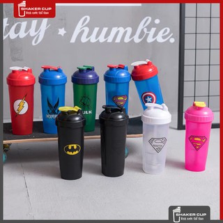 Bình lắc tập gym bình thể thao shake bottle Super Hero