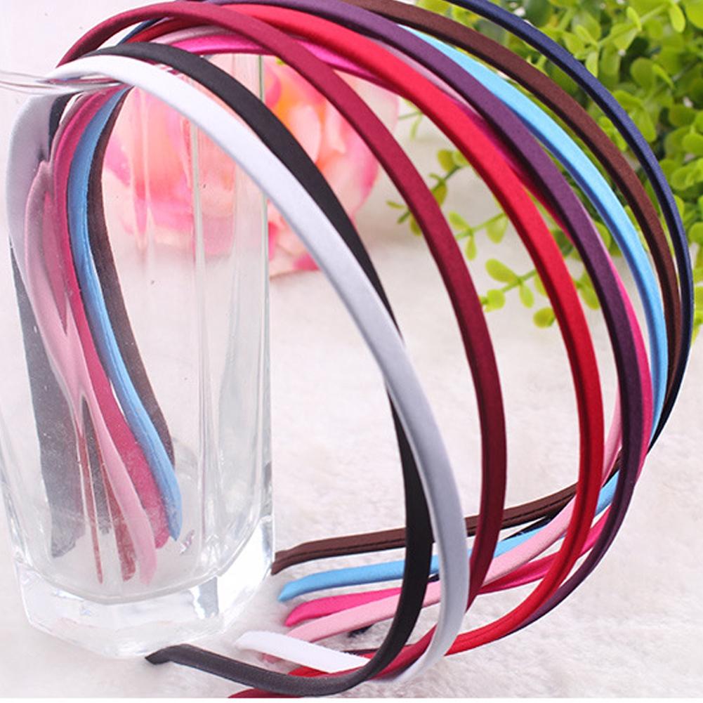 10pcs Accessories Fashion Craft Casual Women DIY Satin Ribbon Headband