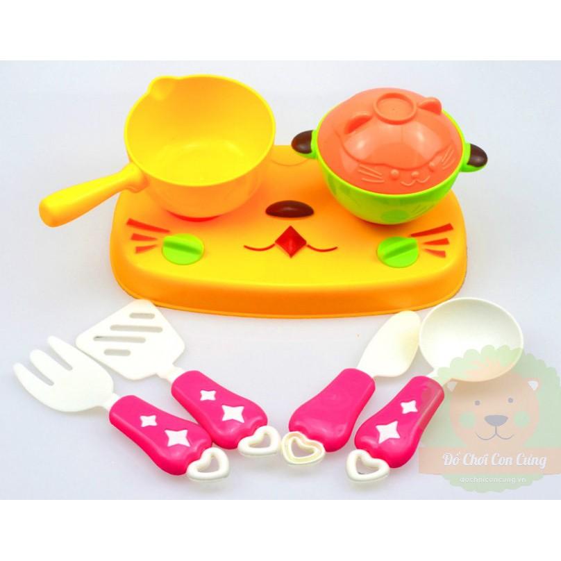 Bộ đồ chơi đồ hàng bếp Kitty mini 7 món