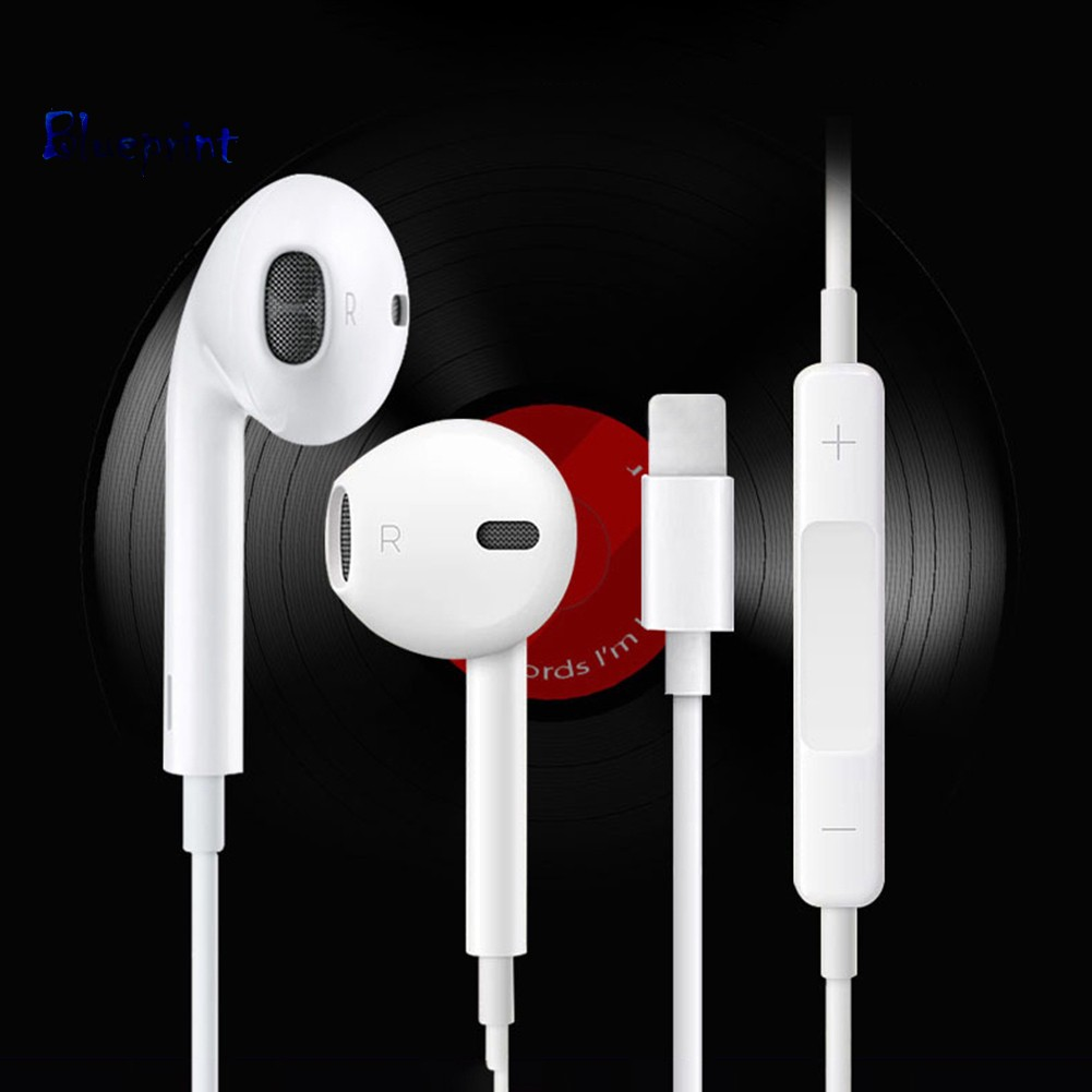 ☞BPStereo 8Pin Plug In-ear Wire Microphone Earphones Headphones for iPhone 7/8/X