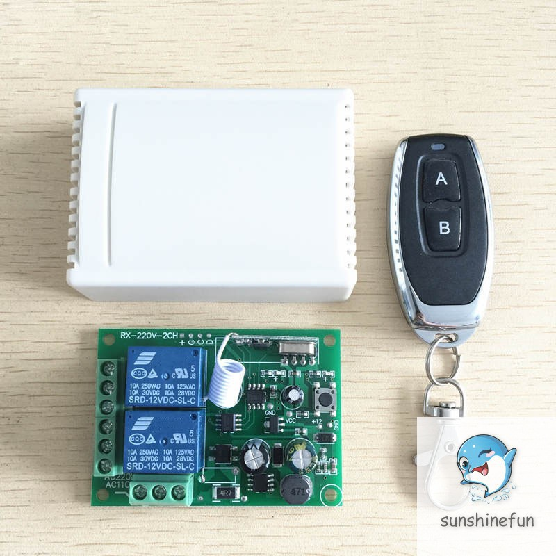Universal 433 Mhz Wireless Remote Control Switch Relay 220V 2CH Receiver Module +RF 433Mhz Remote Co
