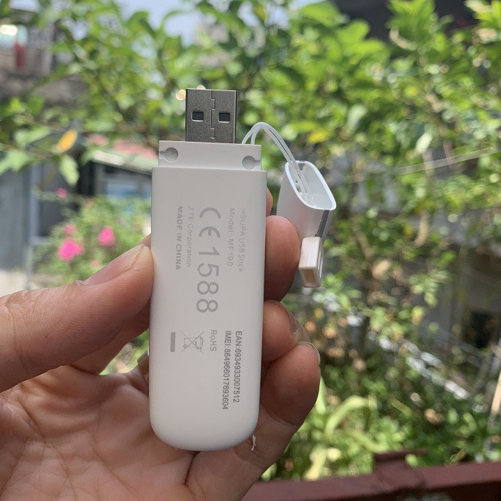 (HÀNG CHÍNH HÃNG) DCOM 3G ZTE MF190 ĐA MẠNG TỐC ĐỘ 7.2MB