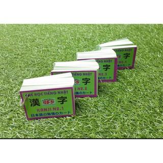 thẻ học tiếng nhật kanji n2 4 xấp
