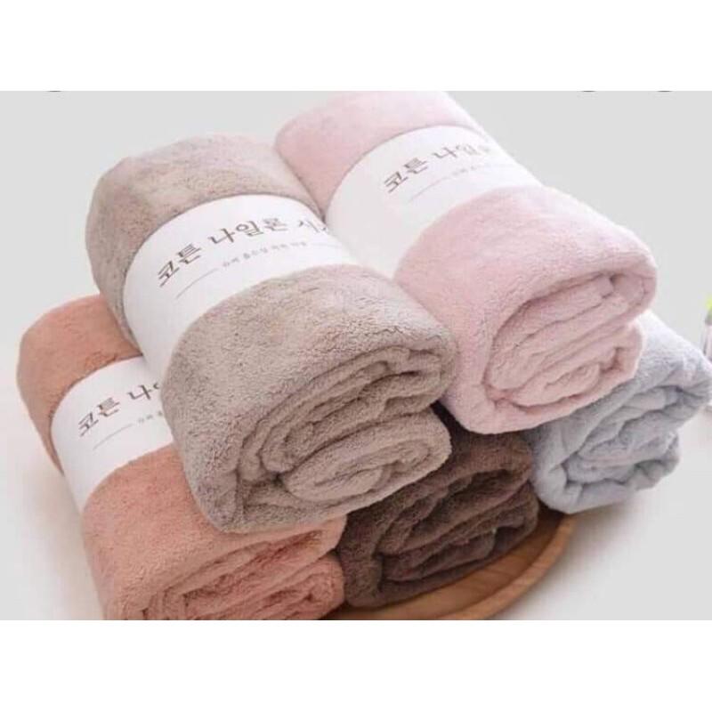 combo 5 khăn mặt lông cừu Hàn Quốc
